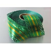 China 25 Yards Metallic with lace and gold line christmas gift ribbon OEM  ODM acceptable wholesale