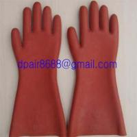 China rubber insulating gloves wholesale