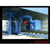 China Roller Type H Beam Sand Blasting Machines With 8 Shot Blaster And Dust Collection System on sale