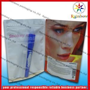 China Aluminum Foil Cosmetic Packaging Bag Bpa Free With Zip Lock wholesale