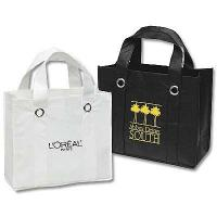 China White / Black Non-Woven Tote Bags, Non Woven Shopping Bag Coating With OPP Film wholesale