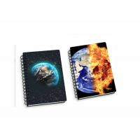 China Lenticular PP / PET 45 Sheets 3D Flip Notebook A4 / A5 / A6 Size Plastic Hard Cover wholesale