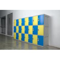 Yellow 4 Tier Lockers with On - Site Assembly For Swimming Pool