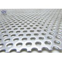 China 1mm Thickness Round Hole Galvanized Perforated Metal Mesh Sheet wholesale