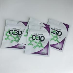 China 3.5 Gram Plastic Pouches Packaging Custom Label Printed CBD Cookies Resealable Ziplock wholesale