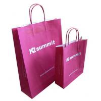 China Clothing Red Kraft Paper Shopping Bags China Wholesale Price wholesale