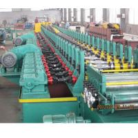 China 2019 new design automatic gear box driving 18kw Galvanized steel metal shutter door frame roll forming machine for sale wholesale