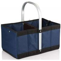 China Urban polyester Basket Reusable Shopping Bag Collapsible/Folding/Folds - Navy Blue on sale