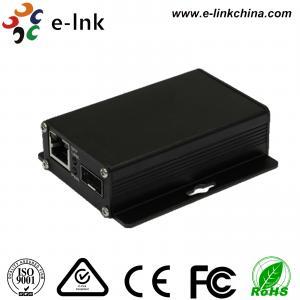 China Entry-level Industrial 10 / 100/1000Base-TX to 1000Base-FX SFP Ethernet Media Converter wholesale