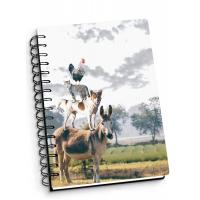 China Depth Effect A4 A5 A6 3D Lenticular Notebook For Student Stationery Eco-friendly wholesale