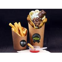 China 12oz 16oz French Fry Cups , PE Coated Disposable French Fry Containers wholesale