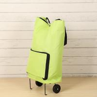 China Market Foldable Reusable Shopping Bags 2 Wheels Luggage Vegetable Trolley Bag wholesale