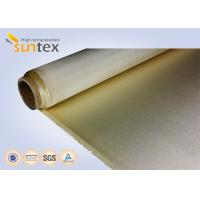 China Brown High Temperature Fiberglass Cloth 0.65mm Extreme For Fireproof Curtain wholesale