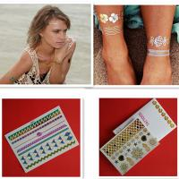 China Professional Custom Gold And Silver Temporary Glitter Tattoo Stickers on sale