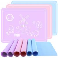 China Square Silicone Kids Product Mat , Silicone Placemat Plate Rollable wholesale