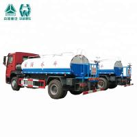 China 10000 / 20000 Liter SS Water Tank Truck With Spraying Range Wide Feature wholesale