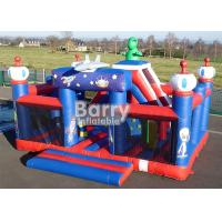China Outdoor Toys Giant Robot Theme Inflatable Playground With Obstacle And Slide wholesale