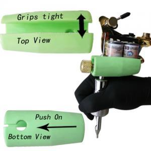China Black Handle Plastic Tattoo Tube Grips / Sleeve , Silicone Tattoo Grip wholesale
