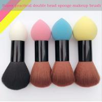 Quality Double Head Makeup Foundation Brush Powder Puff Synthetic Hair and Sponge Hair for sale
