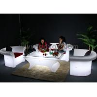 China Glowing Wedding LED big sofa set  Chair Wireless Remote Control With Table wholesale