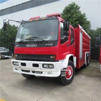China izuzu 10 wheeler 6x4 fire service trucks 10-16ton water foam dry powder tanker fire fighting truck for sale on sale