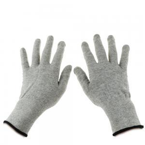 China Grey Carbon Fibre 40D Silver Conductive  Gloves wholesale
