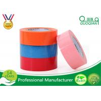 China Custom Printed Pink / Blue Packing Tape , Coloured Sticky Tape Environment Protection 35 - 65 Mic wholesale
