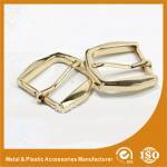 Gold Metal Pin Buckle 25X34.7X38MM OEM Fashion Handbag Buckle Zinc Material
