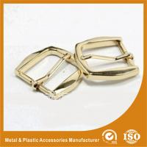 China Gold Metal Pin Buckle 25X34.7X38MM OEM Fashion Handbag Buckle Zinc Material wholesale