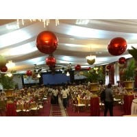 China Christmas Decorative Ball 60cm Red PVC Inflatable Mirror Ball wholesale