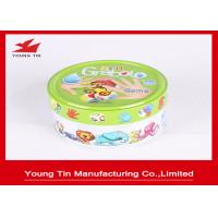 Buy cheap Small Round Logo Embossed Tin Boxes For Children Cards Games Toy Packaging from wholesalers