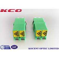 Buy cheap Low Insertion Loss Fiber Optic Adapter Green LC/APC Shutter Duplex PC Material from wholesalers