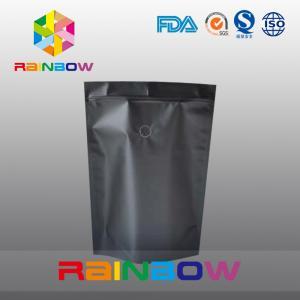 China Mouisture Proof Black Matte Aluminum Foil Coffee / Tea Bag Packaging wholesale