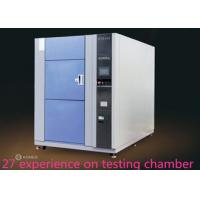 China SUS 304 Thermal Shock Test Chamber Physical Chemical Formula Three - Slot Cold And Hot Impact Box wholesale