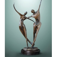 China Custom Casting Indoor Metal Sculptures Copper Abstract Family Sculpture wholesale