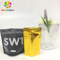 China Foil Laminated Mylar Snack Bag Packaging Custom Printed Clear Front Doypack Pouch wholesale