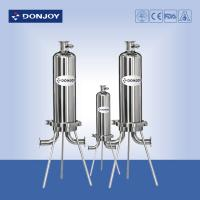 """China 10"""" Microporous Cartridge Pipeline Filter Single Core SS316L Clamp Type on sale"""