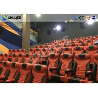 China Large Mobile 4D Movie Theater Equipment  , Motion Chairs With Comfortable Headrest And Cup Saucer wholesale