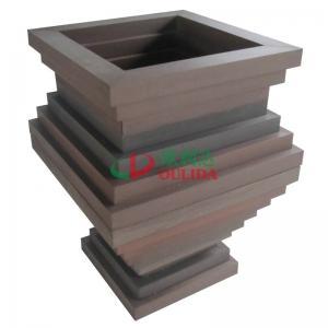 China High Density Composite Diy Planter Box , Fading Resistance Deck Garden Planters 700 X 700 X 896mm wholesale