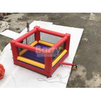 China Ultimate Red And Yellow Kids / Adults Inflatable Sports Games Giant Bouncy Boxing With Gloves wholesale