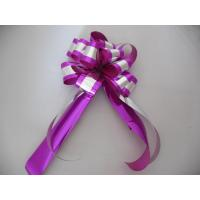 China Custom Printed Gift Wrap Pull Ribbon Bows Christmas Christmas Bows And Ribbon wholesale