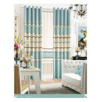 China Colorful Long Wide Jacquard Living Room Curtain Bracket Sound Insulation and Durable wholesale
