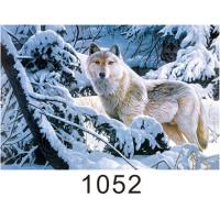 China 0.6mm Thickness 3D Lenticular Images  ,  Advertising Poster 3D Wolf Picture wholesale