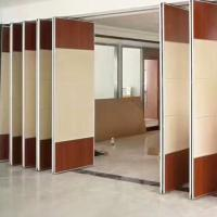 China Divide Space Movable Door Track Roller Hotel Sliding Partition Walls Soundproof Panels wholesale
