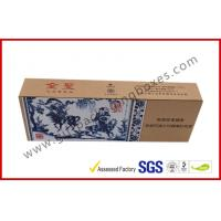 Quality Blue and White Craft Paper Printing Cigarette Packaging Boxes Homemade High End for sale