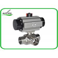 China L Or T Type Sanitary Ball Valves Butt Weld For Chemical Fluids And Pharmacy wholesale