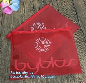 China unique design coloful printed clear pvc plastic slider hook hanging zipper bag, Slider Zipper Bag with Custom Logo on sale