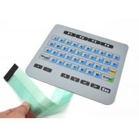 China Flat Membrane Keyboard Switch For Machanical Controller With Connector on sale