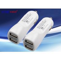 China Quick Double ports universal DC 12-24V USB Car Charger , Original Android / IPhone smart USB Car Adapter wholesale