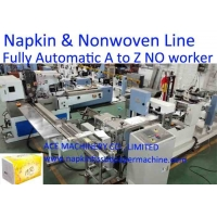 China Automated Two Colors Printing 1/6 tallfold Napkin Production Line on sale